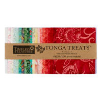 "Timeless Treasures Tonga Batik Treat Poppy 5"" Square Pack Poppy"