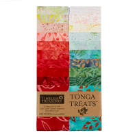 "Timeless Treasures Tonga Batik Treat Poppy 2.5"" Strip Pack Poppy"
