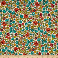 Andover/Makower Bloom Chintz Teal