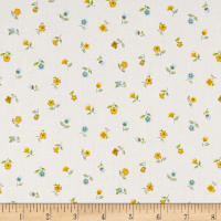 Andover/Makower Bloom Floral Scatter Blue