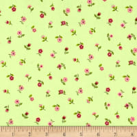 Andover/Makower Bloom Floral Scatter Green