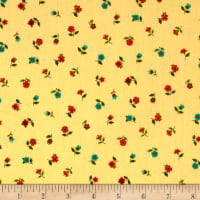 Andover/Makower Bloom Floral Scatter Brown