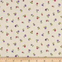 Andover/Makower Bloom Floral Scatter Pink