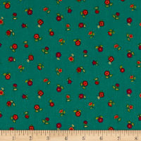 Andover/Makower Bloom Floral Scatter Teal