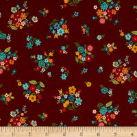 Andover/Makower Bloom Bouquet Red