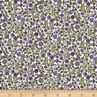 Andover/Makower Bloom Floral Scroll Lavander