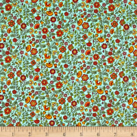 Andover/Makower Bloom Floral Scroll Teal