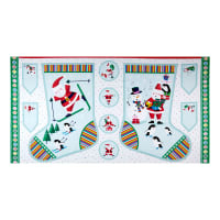 "Andover/Makower Jolly Santa Large Stocking 24"" Panel Multi"