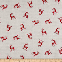 Andover/Makower Scandi 2018 Reindeer Red