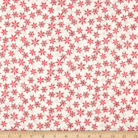 Andover/Makower Scandi 2018 Snowflakes Red