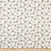 Andover/Makower Scandi 2018 Snowflakes Silver