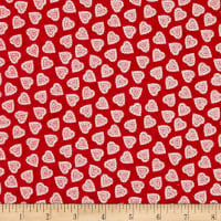 Andover/Makower Scandi 2018 Hearts Red