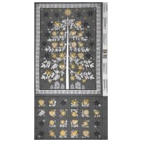 "Andover/Makower Scandi 2018 Scandi Advent 24"" Panel Tree Metallic Silver"
