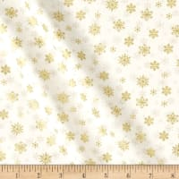 Andover/Makower Silent Night Snowflake Metallic Cream