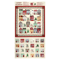 "Andover/ Makower Silent Night Advent Calendar 24"" Panel Metallic Multi"