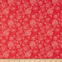 Andover Mosaic Rose Outlines Cherry