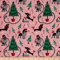 Michael Miller Canine Christmas Canine Christmas Pink