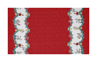 Michael Miller Holiday Frivoliday Holiday Parade Border Santa