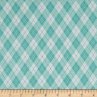 Michael Miller Rustique Winter Gift Wrap Aqua