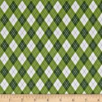 Michael Miller Rustique Winter Gift Wrap Green