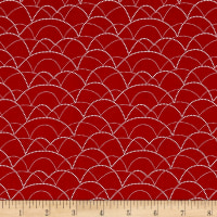 Michael Miller Rustique Winter Garland Cranberry