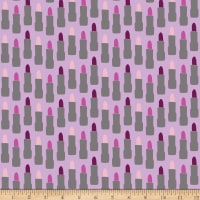 Riley Blake Kiss Me Kate Lipstick Purple
