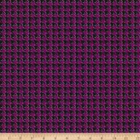 Riley Blake Kiss Me Kate Houndstooth Purple