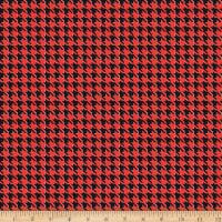 Kiss Houndstooth Red