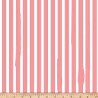 Riley Blake Kiss Me Kate Nail Polish Stripe Coral