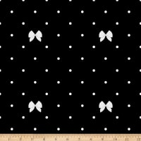 Riley Blake Kiss Me Kate Polka Bow Black