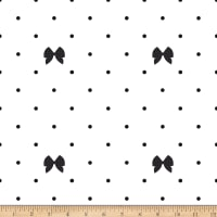 Riley Blake Kiss Me Kate Polka Bow White