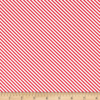 Riley Blake Summer Blush Stripe Red