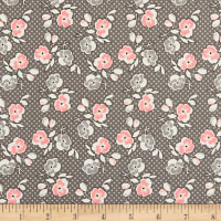Riley Blake Lemonade Sundae Floral Gray