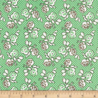 Riley Blake Lemonade Sundae Floral Green