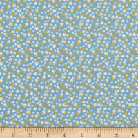 Riley Blake Lemonade Sundae Small Floral Blue