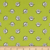 Riley Blake Paperdoll Polka Button Green
