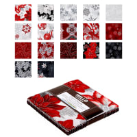 "Kaufman Holiday Flourish 5"" Charm Squares 42 Pcs Metallic Silver"