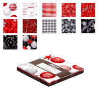 "Kaufman Winter's Grandeur 5"" Charm Squares 42 Pcs Metallic Winter"