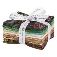 Kaufman Artisan Batiks Northwoods 10 Pcs. Fat Quarters Bundle Metallic Forest