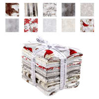 Kaufman Winter White 3 10 Pcs. Fat Quarters Metallic Ice