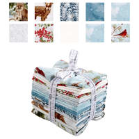 Kaufman Winter White 3 10 Pcs. Fat Quarters Metallic Winter