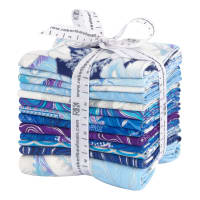 Kaufman Holiday Flourish 13 Pcs. Fat Quarters Bundle Metallic Peacock