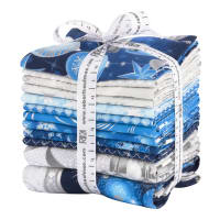 Kaufman Winter's Grandeur Fat Quarters 12 Pcs Metallic Evening