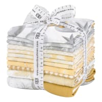 Kaufman Winter's Grandeur 10 Pcs. Fat Quarters Metallic Champagne