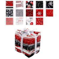 Kaufman Winter's Grandeur 13 Pcs. Fat Quarters Metallic Winter