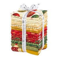 Kaufman Winter's Grandeur Fat Quarters 19 Pcs Metallic Holiday