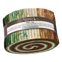 Kaufman Artisan Batiks Northwoods Roll Up 40 Pcs Metallic Forest