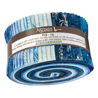 Kaufman Artisan Batiks Northwoods Roll Up 40 Pcs Metallic Winter