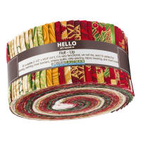 "Kaufman Holiday Flourish 2.5"" Roll Ups 40 Pcs Metallic Holiday"