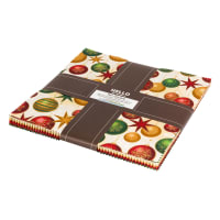 Kaufman Winter's Grandeur Ten Square Pack 42 Pcs. Holiday